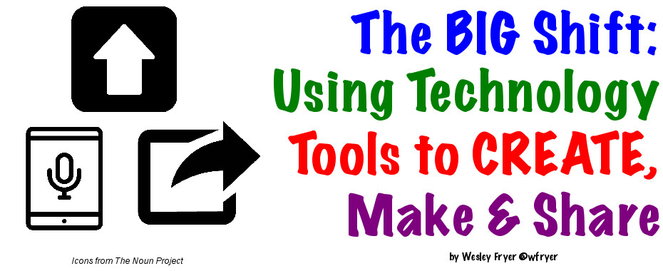 The Big Shift: Using Technology Tools to Create, Make and Share