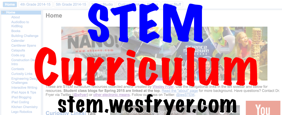 Free STEM Curriculum from Wesley Fryer